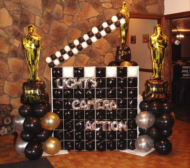 1000 images about balloons hollywood on pinterest for Hollywood party dekoration