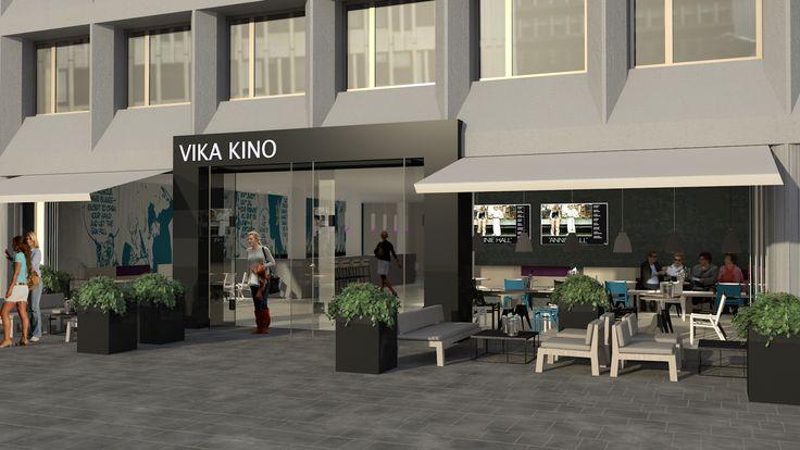 #Scenario interiørarkitekter MNIL - #fasade #kino #Oslo - #3D