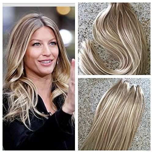 24 best best clip in hair extensions by ciao bella and venus hair 20pcs50g balayage tape in hair extension ash brown to bleach blondecolor 613 pmusecretfo Gallery
