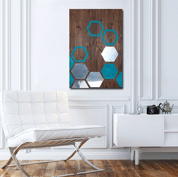Metal Art Wall Decor, Wall Art Geometric, Wood Wall Art Decor, Modern Metal Wall  Art, Wall Decor Metal Art