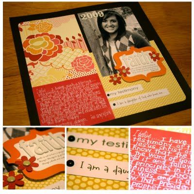 Testimony kits...so cute! Would be fun for a girls camp craft or for a YW  activity..maybe an idea for my Friday Girls