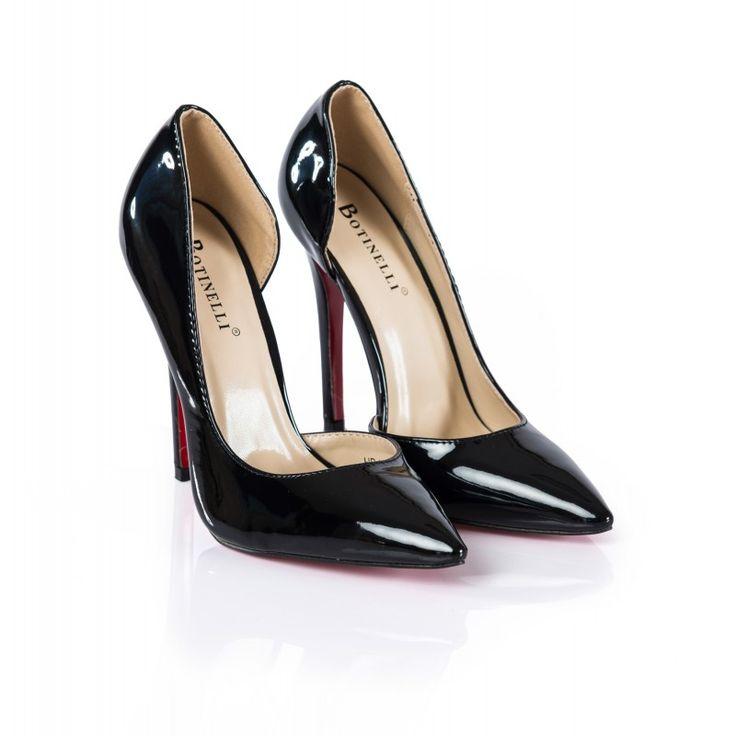 Pantofi dama negri Bolero cu toc inalt la pretul de 109.00 RON. Comanda Pantofi dama negri Bolero cu toc inalt de la Oteros!