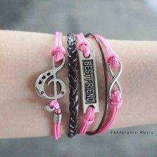 Treble Best Friend Infinity Bracelet