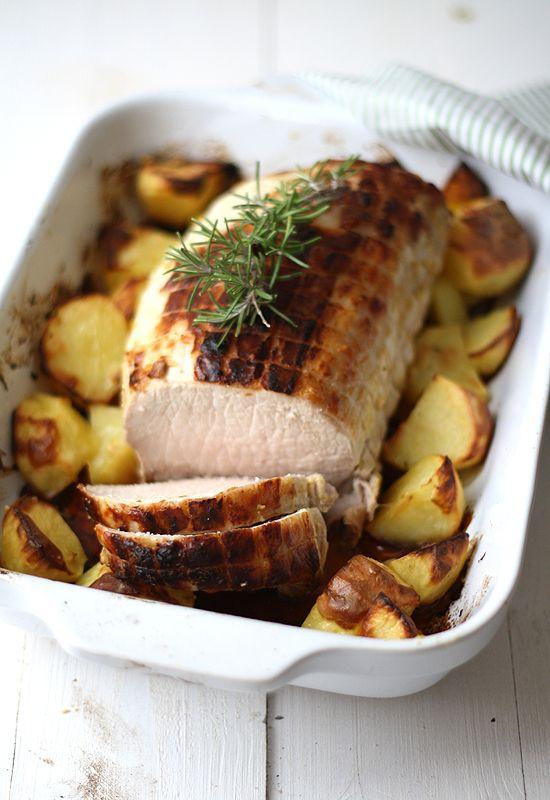 Receta 776: Cinta o lomo de cerdo asado con mostaza » 1080 Fotos de cocina