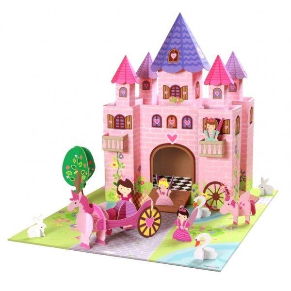 Castillo de #juguetes http://www.elpaisdelosjuguetes.es/juguete-educativo-castillo-de-princesas-y-hadas-de-carton.html