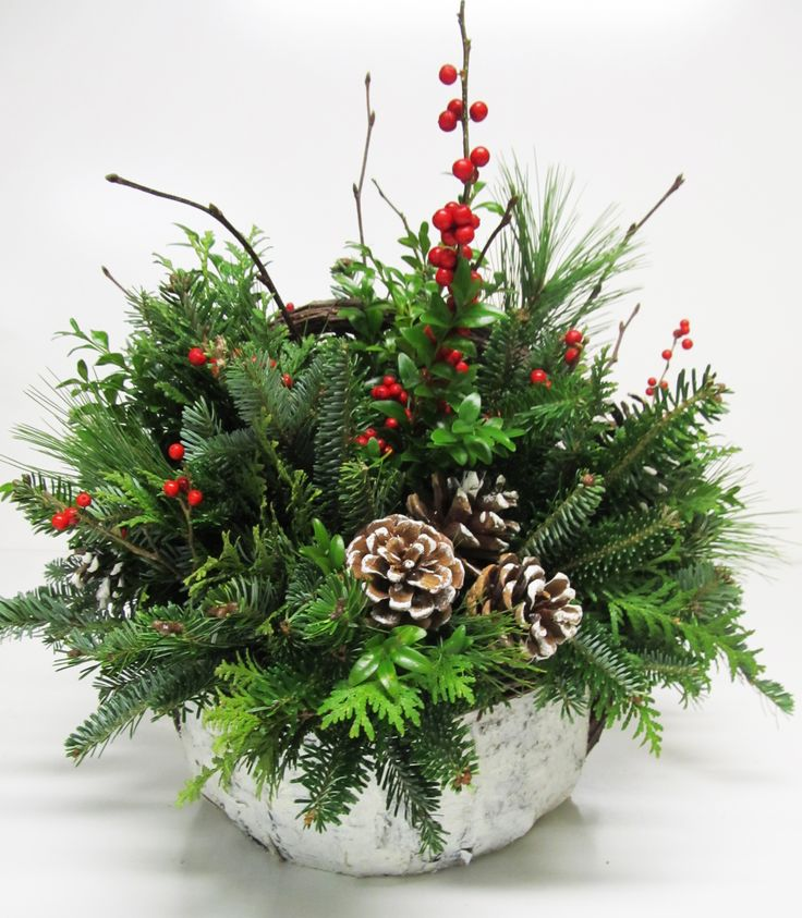 Best ideas about christmas arrangements on pinterest