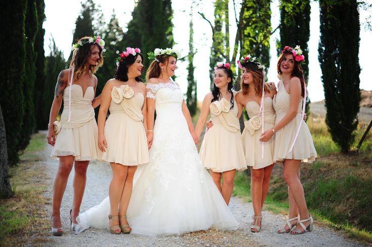wedding day bridesmaid