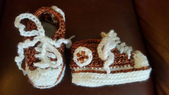 Hey, I found this really awesome Etsy listing at https://www.etsy.com/ca/listing/287624615/metallic-copper-crochet-baby-converse