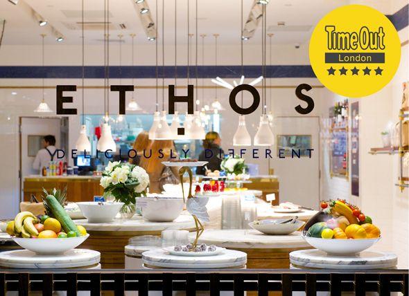 Ethos vegetarian restaurant, Eastcastle St, W1   Restaurant   Pinterest    Restaurants, Commercial interiors and Cafe bar