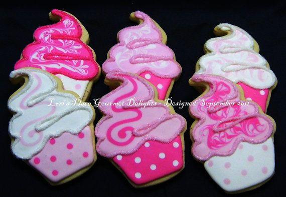 Cupcake Cookies  Sparkle Cupcakes  Cupcake Cookie by lorisplace, $39.99