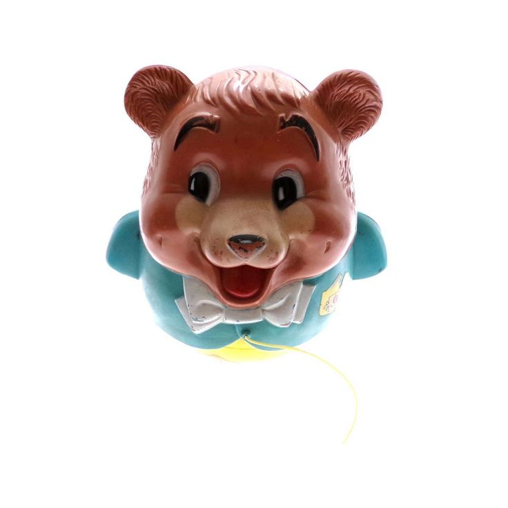 Vintage Fisher Price Chubby Cub Bear Roll a long Roly Poly toy, missing paws by nyannyanvintage on Etsy https://www.etsy.com/listing/506124214/vintage-fisher-price-chubby-cub-bear