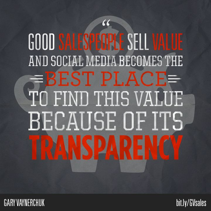 Social media SELLS SH*T  http://www.insightsquared.com/2013/04/social-selling-interview-with-gary-vaynerchuk/