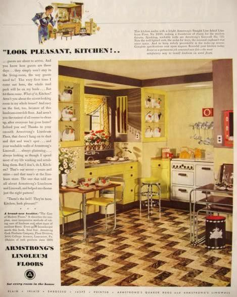 229 best images about 1930s and 1940s american homes on for Vintage look linoleum flooring