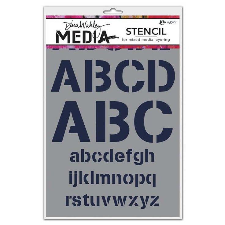 Dina Wakley Media Stencil: Alphabetic - MDS45526