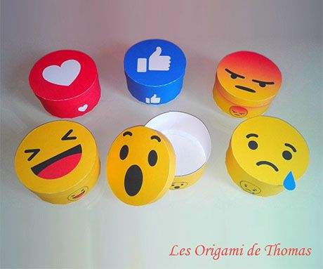 Paperized: Smiley Round Paper Boxes
