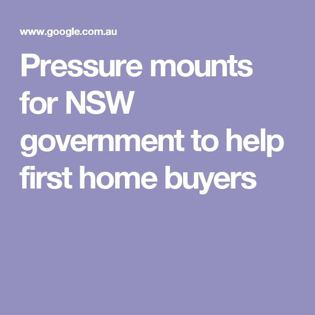 Pressure mounts for NSW government to help first home buyers