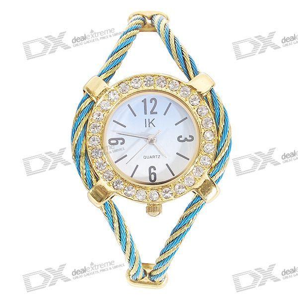 Beautiful Bracelet Style Lady's Crystal Quartz Wrist Watch http://www.madeinchina.com/pd/beautiful-bracelet-style-lady-s-crystal-wrist-watch-99018648#.Vbsq8kZAdZY