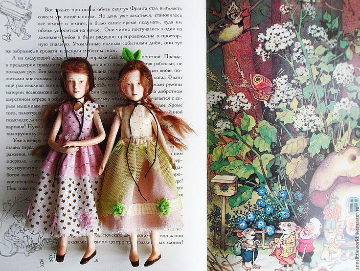 Купить Веснушка и Веснянка - зеленый, кукла ручной работы, кукла в подарок, кукла интерьерная, кукла