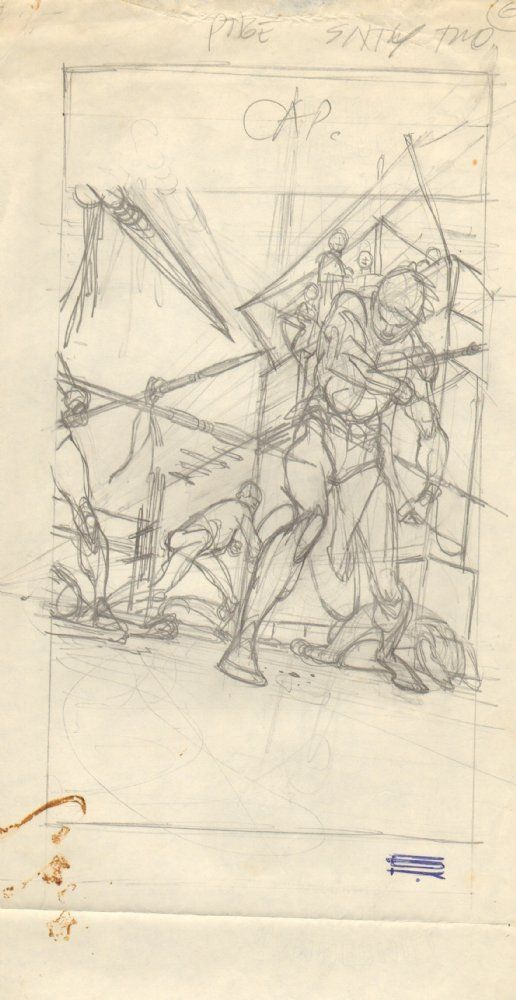 Comic Art For Sale from Anthony's Comicbook Art, Blackmark Paperback Prelim p.62 - LA - 1971 Signed by Comic Artist(s) Gil Kane