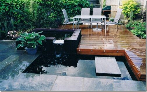 #deck #water #stone #vegetation #pátio #jardim