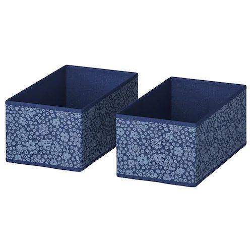 STORSTABBE Rangement tissu, bleu, blanc, 20x37x15 cm - IKEA en 2020   Rangement tissu, Ikea ...