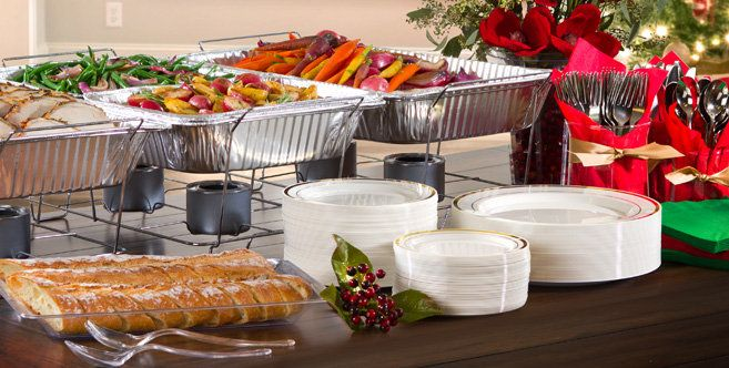 Chafing Dishes & Aluminum Pans - Single-Use Aluminum Pans and Dishes - Party City