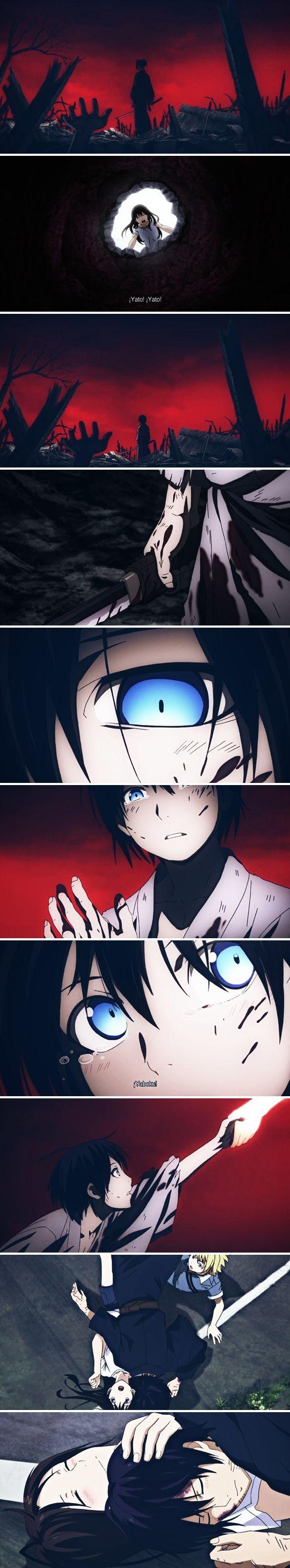 noragami, hiyori, yato, yaboku I was happy and sad at the same time at this part... :....)