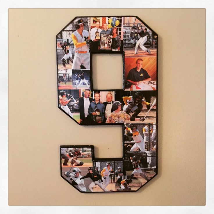 Baseball collage, senior night gift idea! Sports photo collage. 18 inch single digit number collage. Team mom, baseball mom, boyfriend gift! by MatchPointGifts on Etsy https://www.etsy.com/listing/244284513/baseball-collage-senior-night-gift-idea