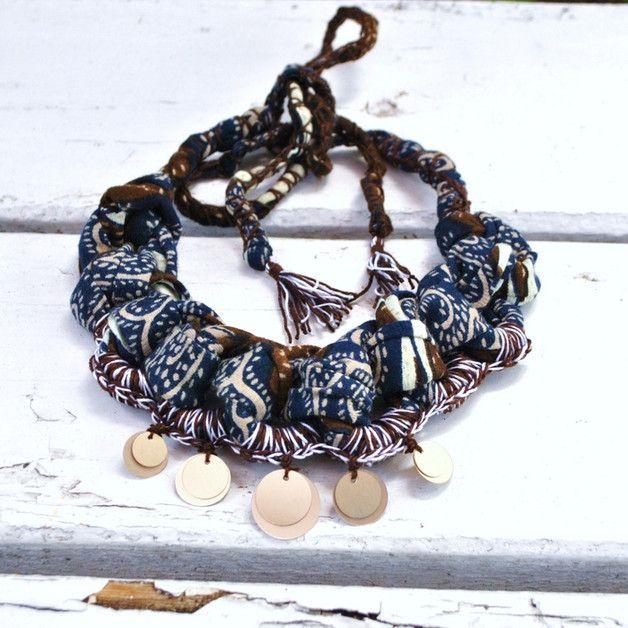 boho tribal necklace,sequins necklace