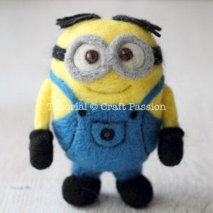 Ba..Ba..Ba.Bananaaaa. Learn to make this adorable felted minion with step by step picture instructions!
