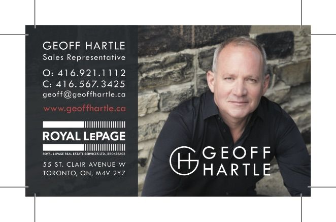 The updated business cards we designed for Geoff Hartle as part of his digital strategy project.