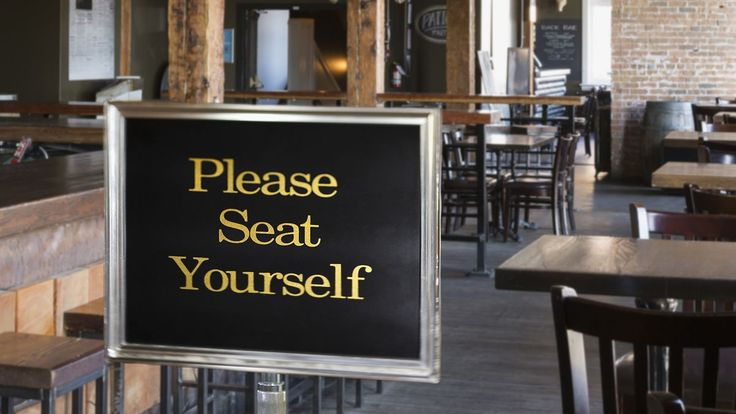 Restaurant Hostess Loses Job To 'Please Seat Yourself' Sign