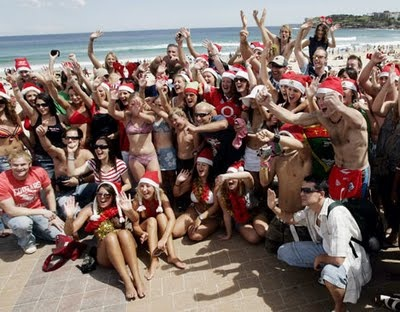 Bondi Beach, Christmas Day.
