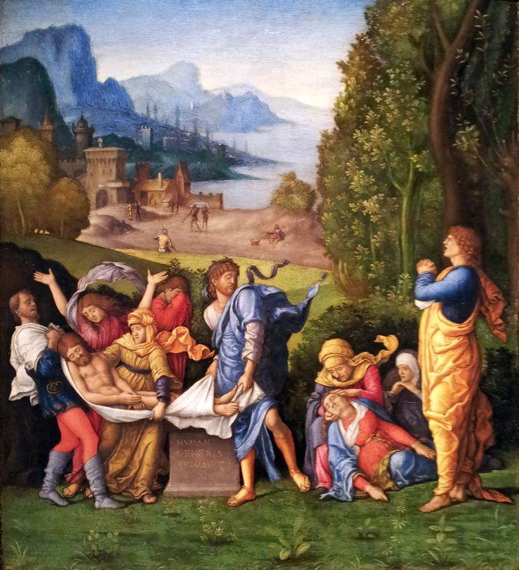 Bernardo Parentino : Lamentation of Christ (Bonnefanten Museum, Maastricht) 1450-1500 ベルナルド・パレンティノ