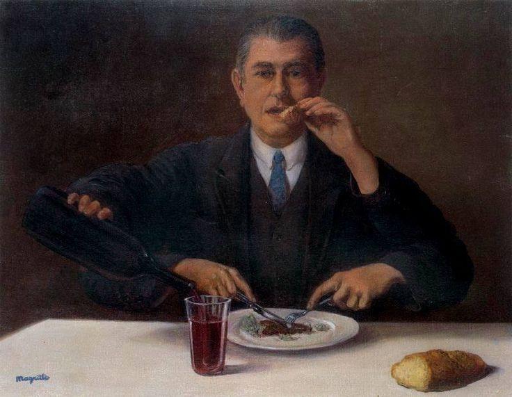Auto retrato René Magritte, 1954