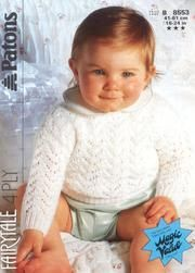 Patons 8553 Garter and Eyelet Stitch Sweater : Free Download & Streaming : Internet Archive