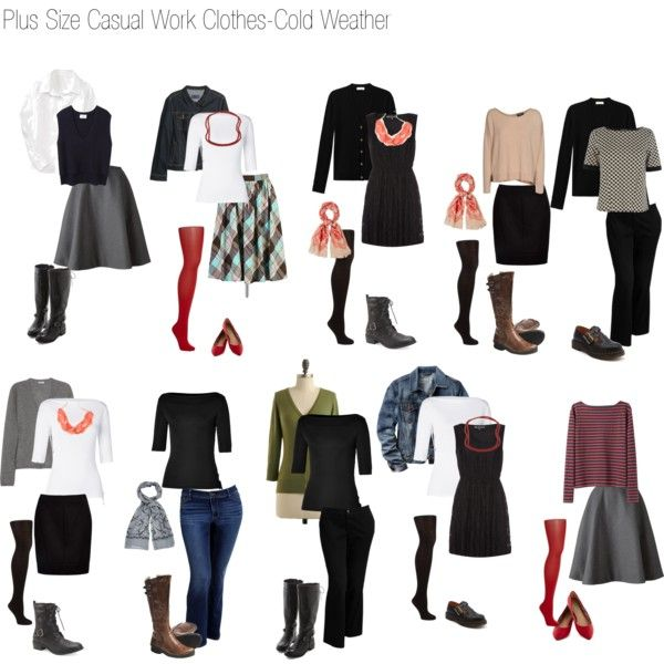 Basic Work Wardrobe: Plus Size Casual Work Wardrobe-Cold Weather By