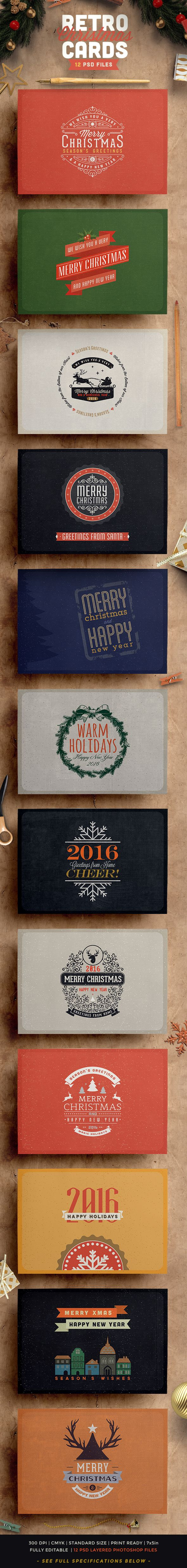 Retro / Vintage Christmas Card PackBeing a huge fan of Lost-Type foundry, I created a special free font selection materialized in a beautiful retro / vintage Christmas card pack! Check the typography selection, the textures and the old-printing touch of…
