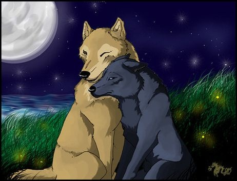 Wolfs Rain. Hige and Blue