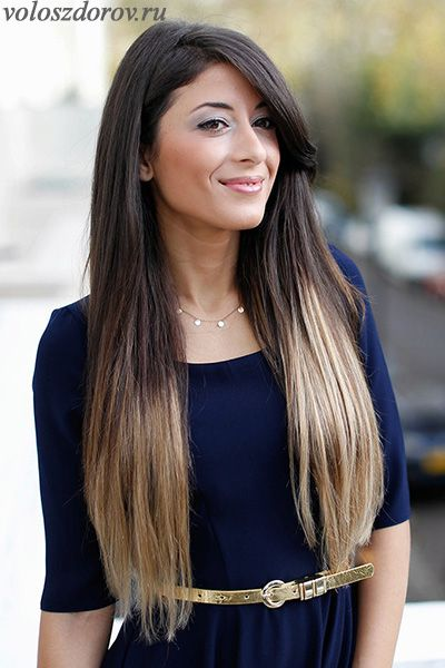 Фото омбре на волосах