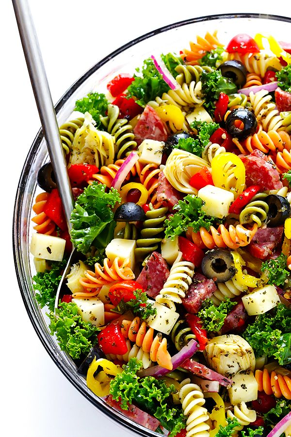 Rainbow antipasto salad