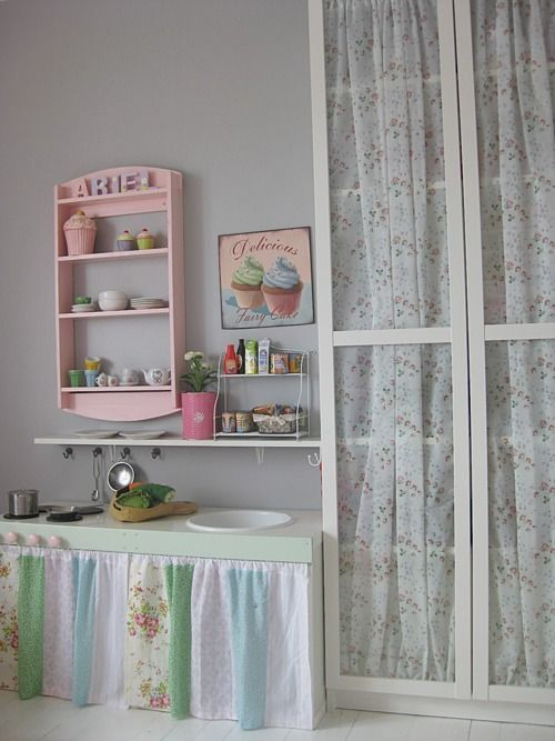 """Can see this little """"kitchen"""" in my basement for Ila :)"""