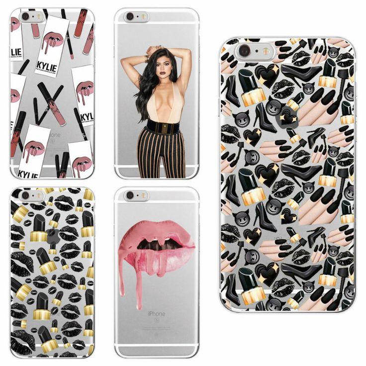 Sexy MakeUp Lips Lipstick Kylie Jenner Cosmetics Soft Phone Case Fundas For iPhone 7 7Plus 6 6S 6Plus 5 5S SE 5C 4 4S  SAMSUNG