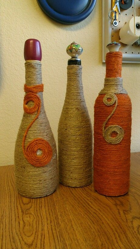 A great idea for repurposing wine bottles.