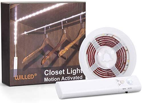Motion Sensor Closet Light Willed Motion Activated Under Cabinet Light With Dual Mode Stick On Anyw Motion Sensor Closet Light Closet Lighting Stair Lighting