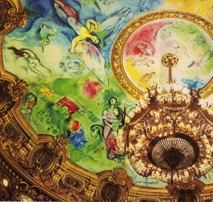Marc Chagall - Plafond de l'Opéra de Paris (Palais Garnier)