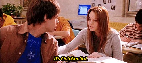 It actally IS october 3rd!