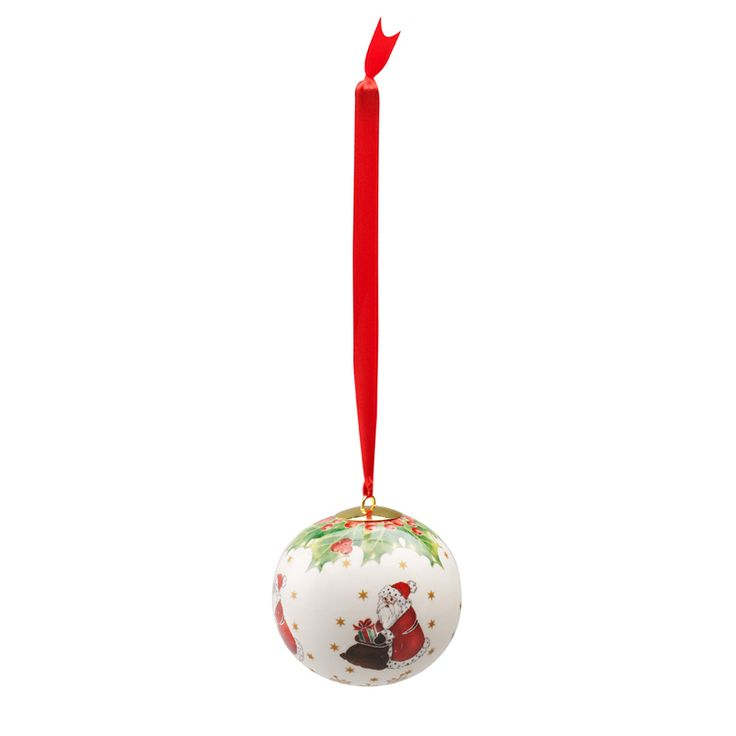 Toys Ornaments Snøglobus med Julenissen, Villeroy & Boch