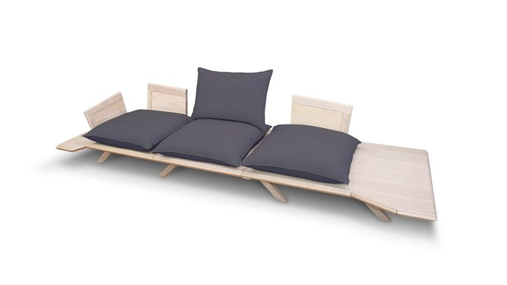 When removing any of the seating cushions, the extra space may be used as an actual table facilitating joyous, carefree gatherings with friends, snacks and drinks.
