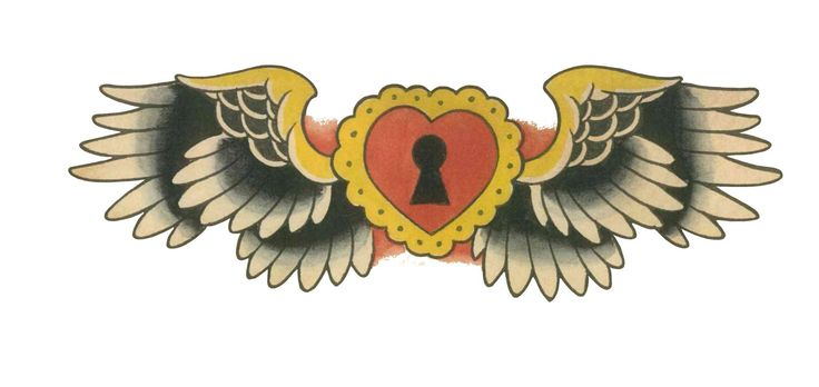 Old shool tattoo ideas. Winged Heart. Follow Miracle Pinterest page to see more pins like this